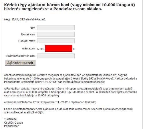 internetes bevételi ajánlatok